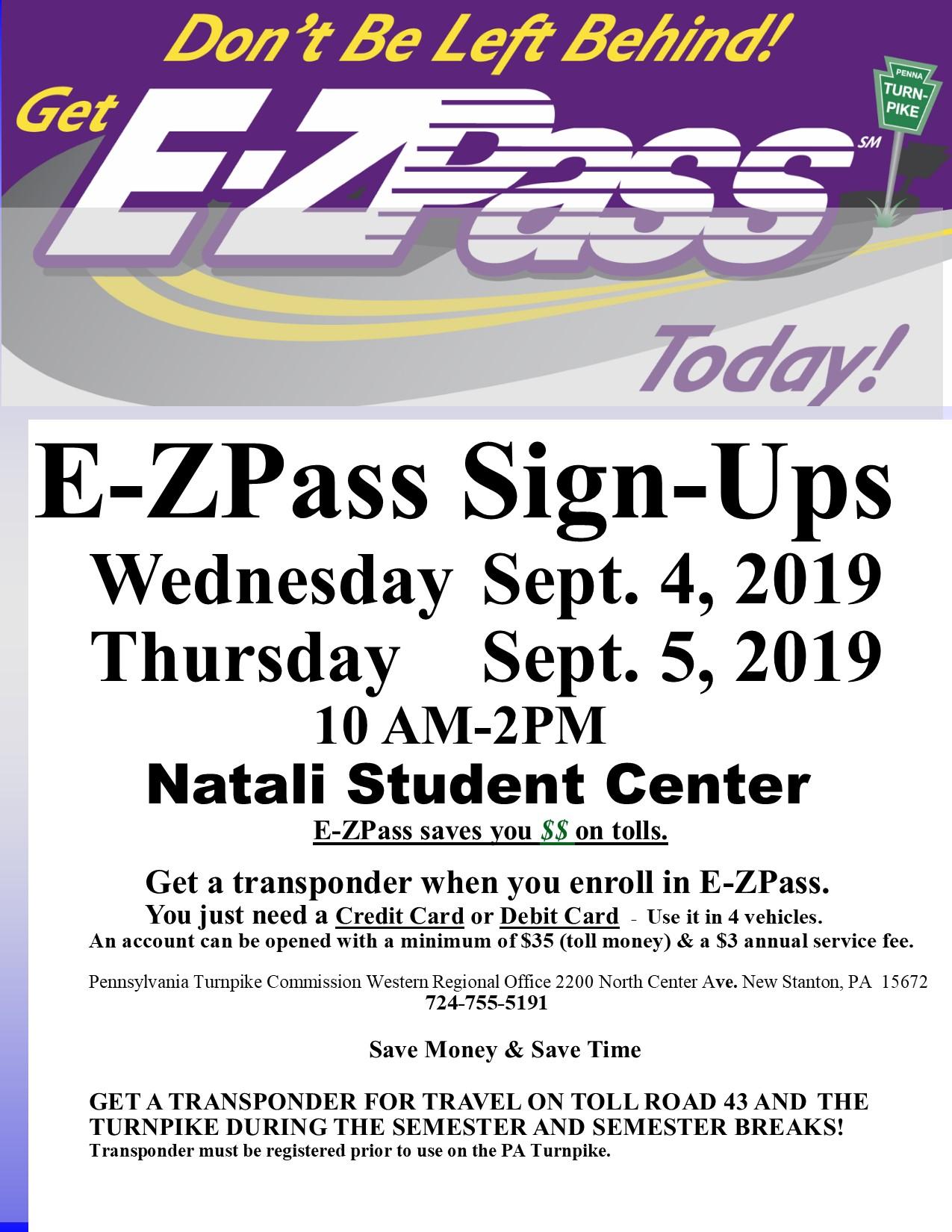 EZ Pass Sign Up