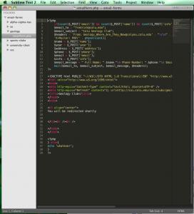 Sublime Text 2 Screenshot