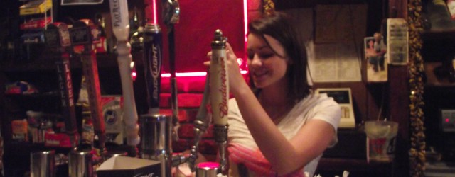 Valerie Lazar, 20, tends bar at Just a Tavern, North Belle Vernon.