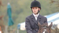 Linda Syers, 20, is English captain of the Cal U equestrian team.