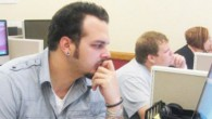 Chris Kraski, 27, is a part-time graphic designer at Cal U.